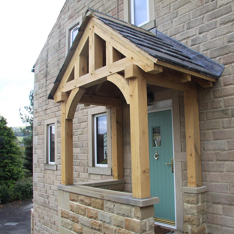A gallery of oak porch designs call 01423 593794 for details for Side entrance porch designs