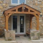 Oak porch with oak boarding and extra brackets
