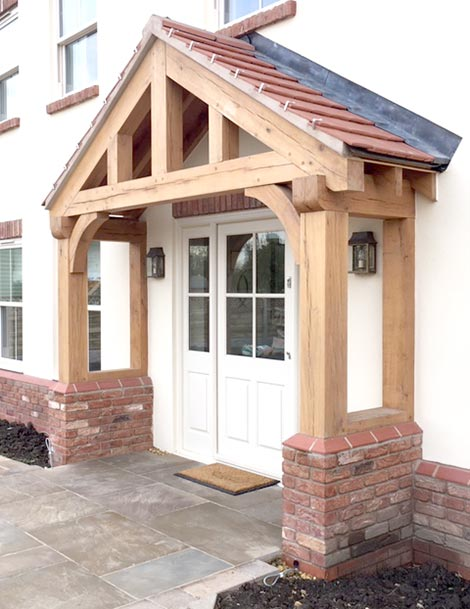 large oak porch